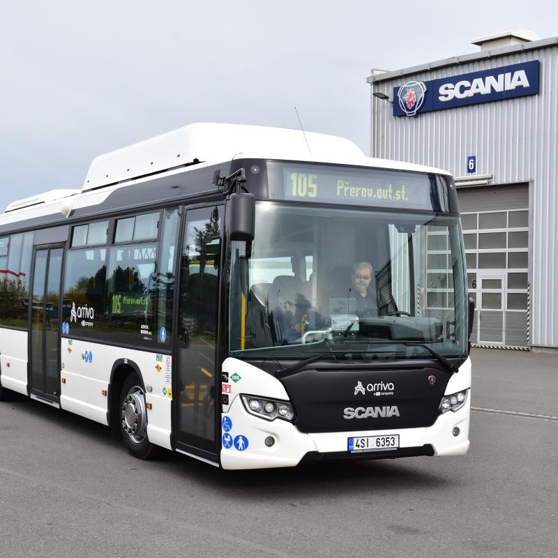 Vůz Scania Citywide LE v plynové verzi.