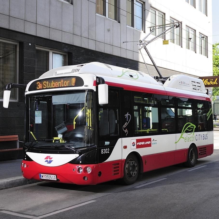 Elektrobusy Rampini jezdí ve Vídni již od roku 2013. Jedná se však pouze o midibusy. (foto: Johannes Zinner)