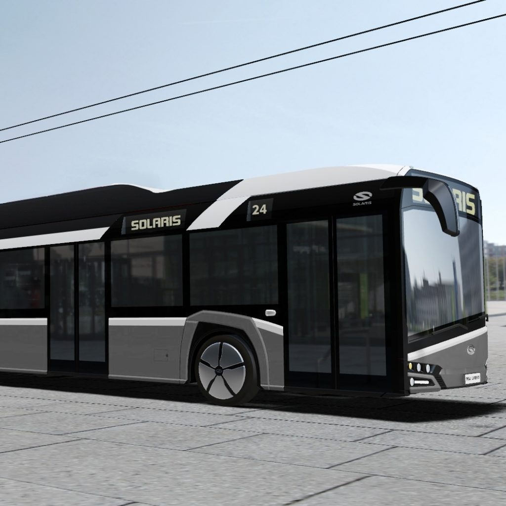 Solaris Trollino 24 na vizualizaci výrobce. (zdroj: Solaris Bus & Coach)