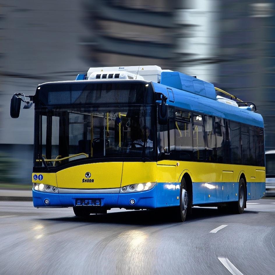 Trolejbus Škoda 26 Tr na propagační fotografii výrobce. (foto: Škoda Electric)
