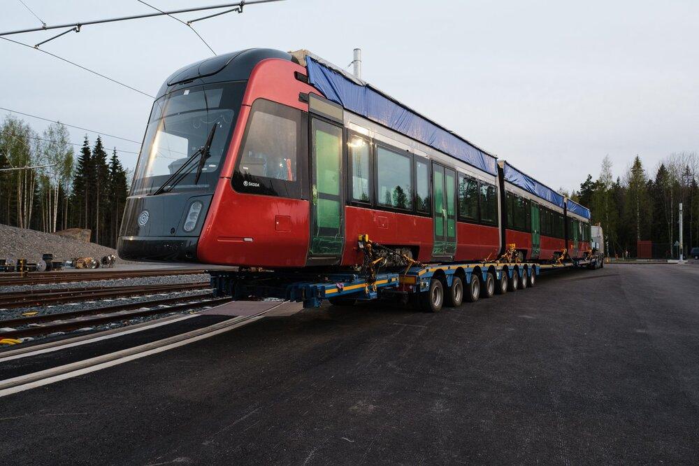 První tramvaj pro Tampere z finské Škodovky. (foto: Škoda Transtech)