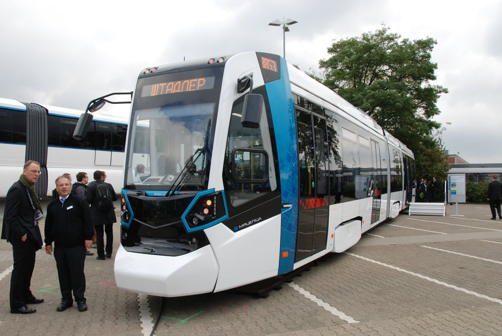 Metelica v Berlíně na veletrhu InnoTrans 2014. Lze očekávat, že tramvaje pro Ostravu budou od tohoto provedení odlišné. (foto: Libor Hinčica)