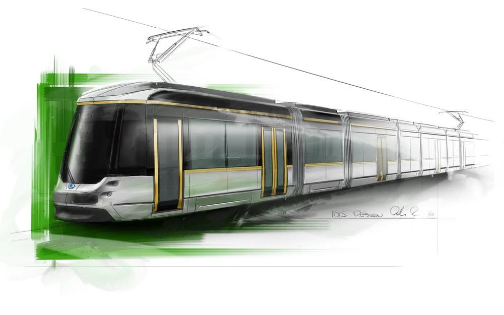 Designový návrh nové tramvaje z rodiny ForCity pro meziměstskou linku do Espoo. Škoda má prostřednictvím své společnosti Transtech dodat celkem 29 těchto vozidel. (zdroj: Škoda Transportation)