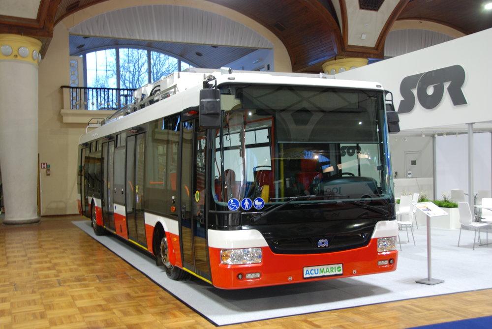 Trolejbus SOR TNB 12 pojmenovaný jako