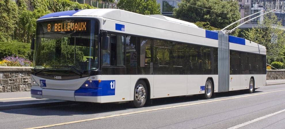 Trolejbus SwissTrolley od firmy HESS. (ilustrační foto: HESS AG)