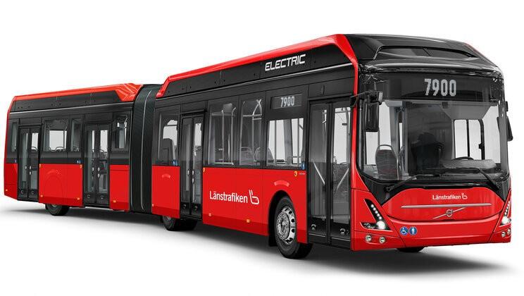 Kloubový hybrid pro Jönköping na vizualizaci výrobce. (foto: Volvo Buses)