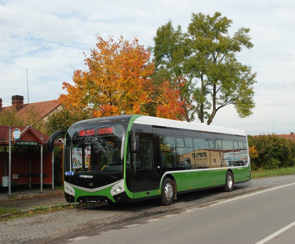 Druhý prototyp elektrobusu SOR NS 12 electric v Libchavách. (foto: Libor Hinčica)