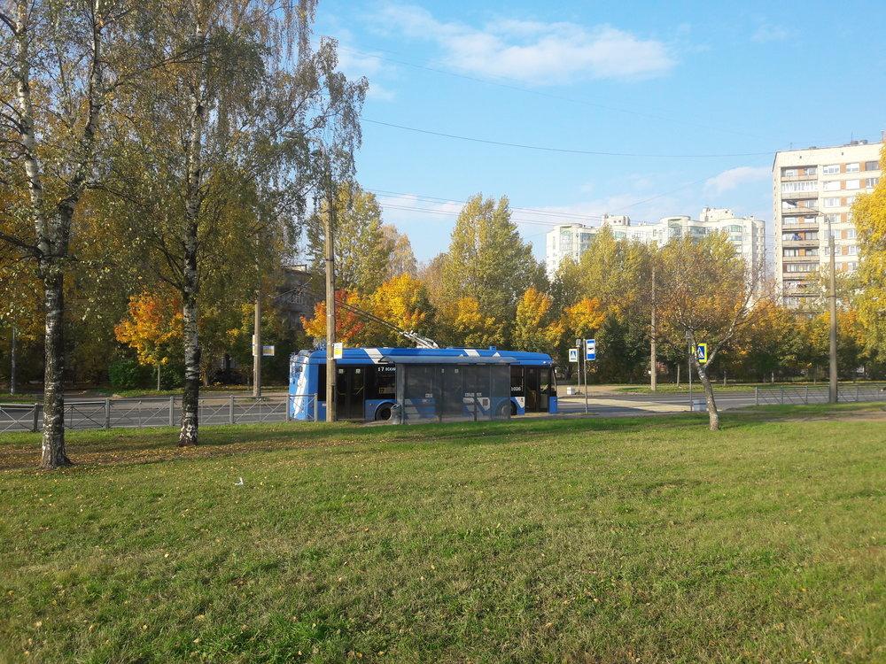 Ulice Varšavskaja, opět linka č. 17, tentokrát úplně najihu města.