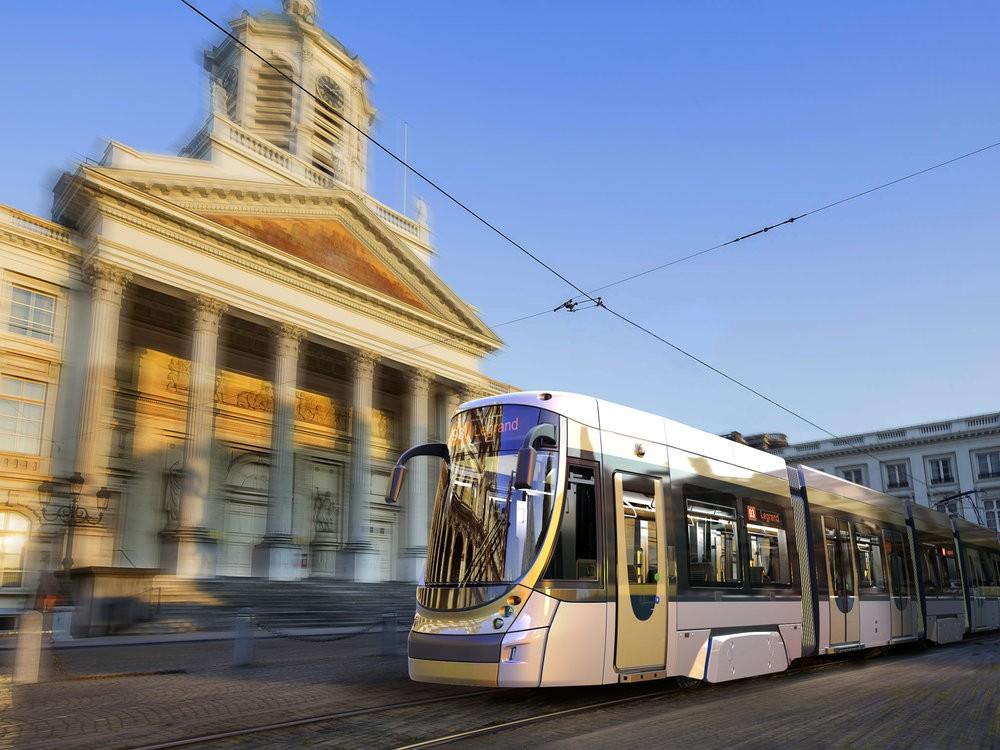 Modifikovaný design nových tramvají pro Brusel. (foto: Bombardier)
