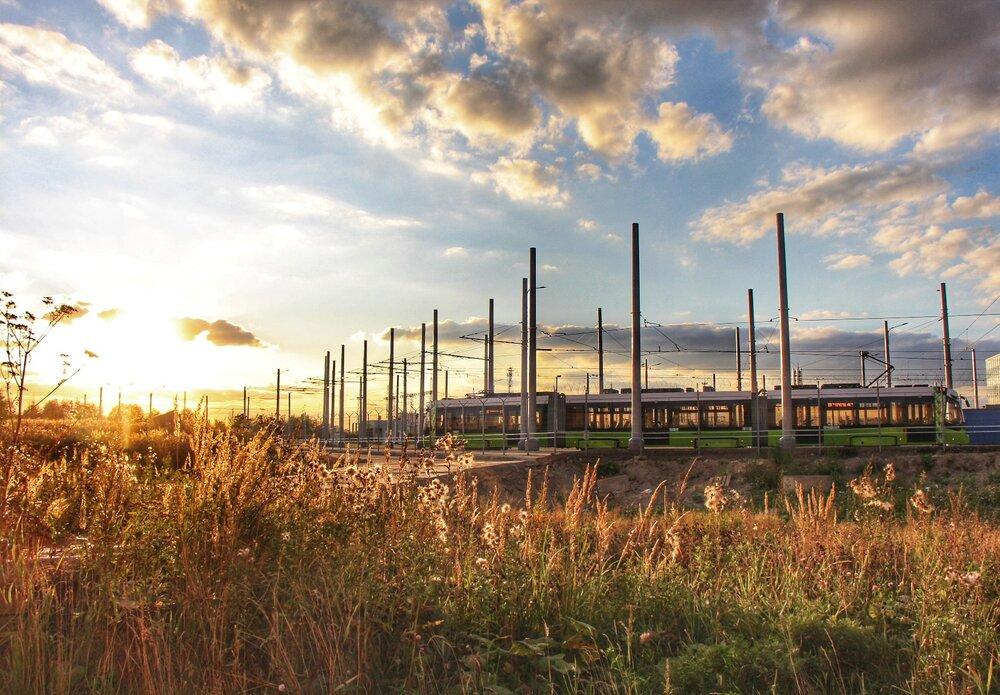 Pohled do areálu vozovny z konce srpna 2019. (foto: Oleg Solovjev)