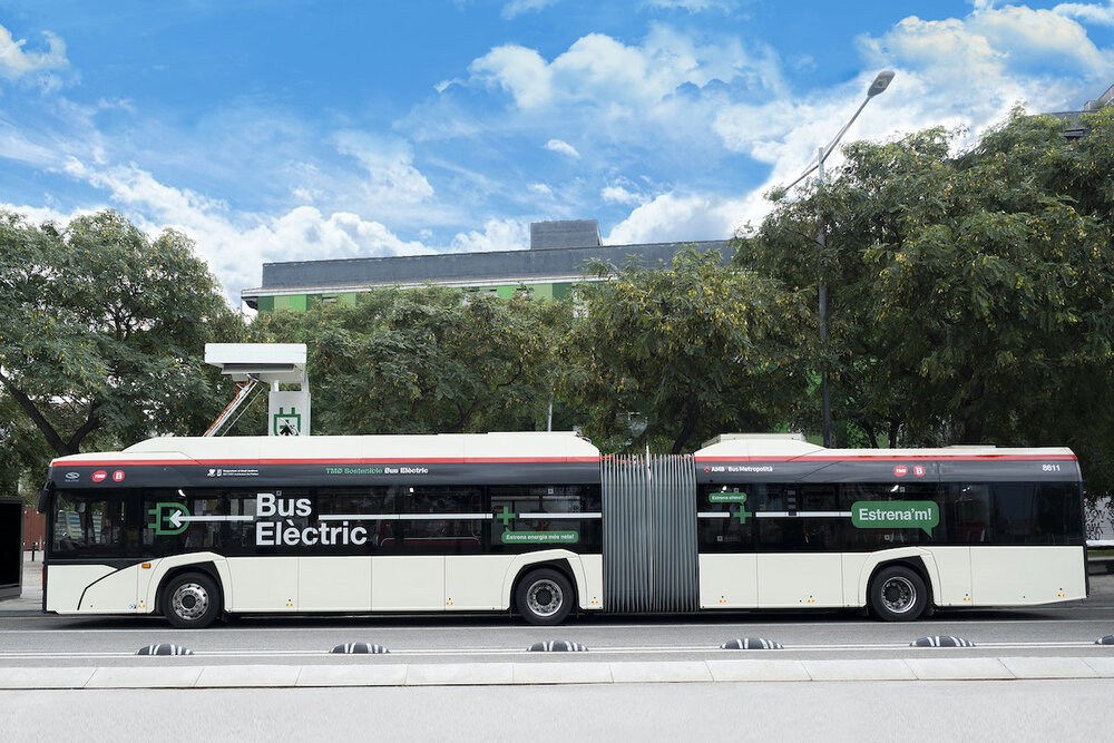 Autobus Solaris Urbino 18 electric v Barceloně. (foto: Solaris Bus & Coach)