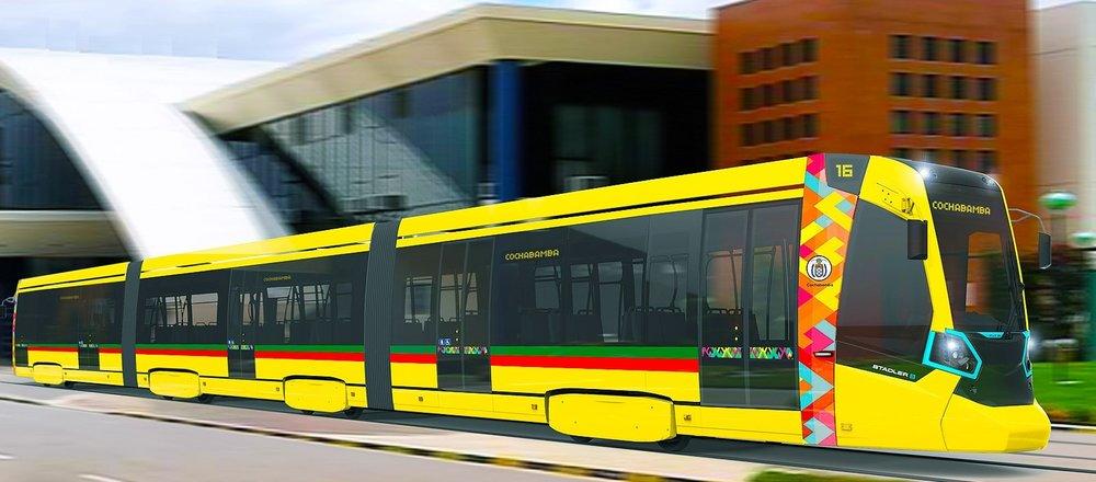 Tramvaje v provedení odvozeném od verze provozované v Petrohradě budou k vidění i v Bolívii. (foto: Stadler)