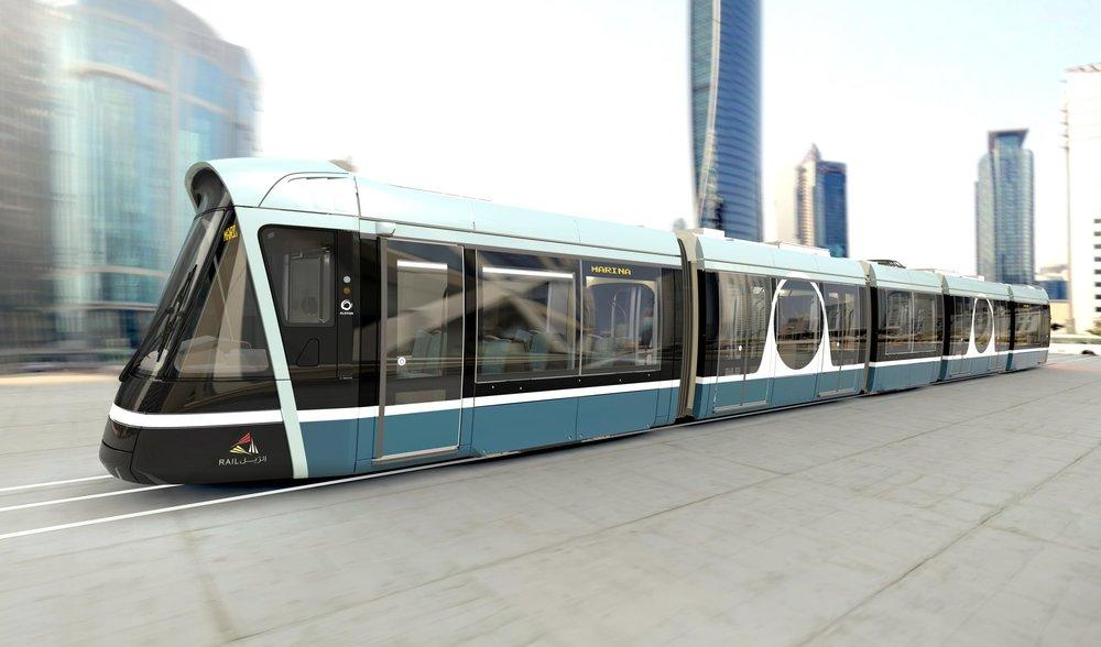 Design tramvají pro Lusail na vizualizaci výrobce. (zdroj: Alstom)