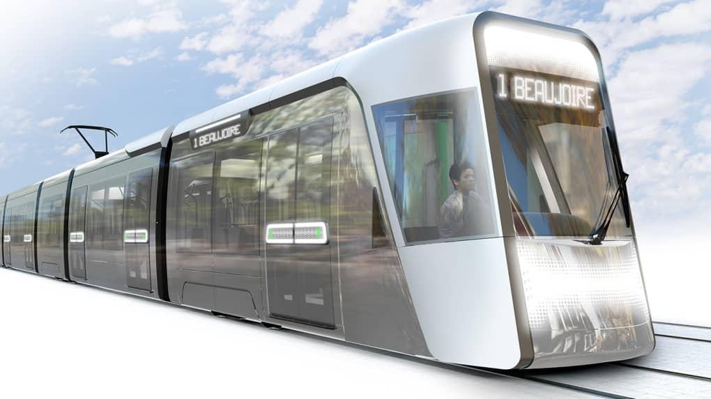 Alstom sice do Nantes již tramvaje v minulosti dodával, nešlo ale o vozy z rodiny Citadis. Ty se do města dostanou v roce 2022 poprvé, a to v novém moderním designu vytvořeném na míru pro Nantes. (zdroj: Studio RCP)