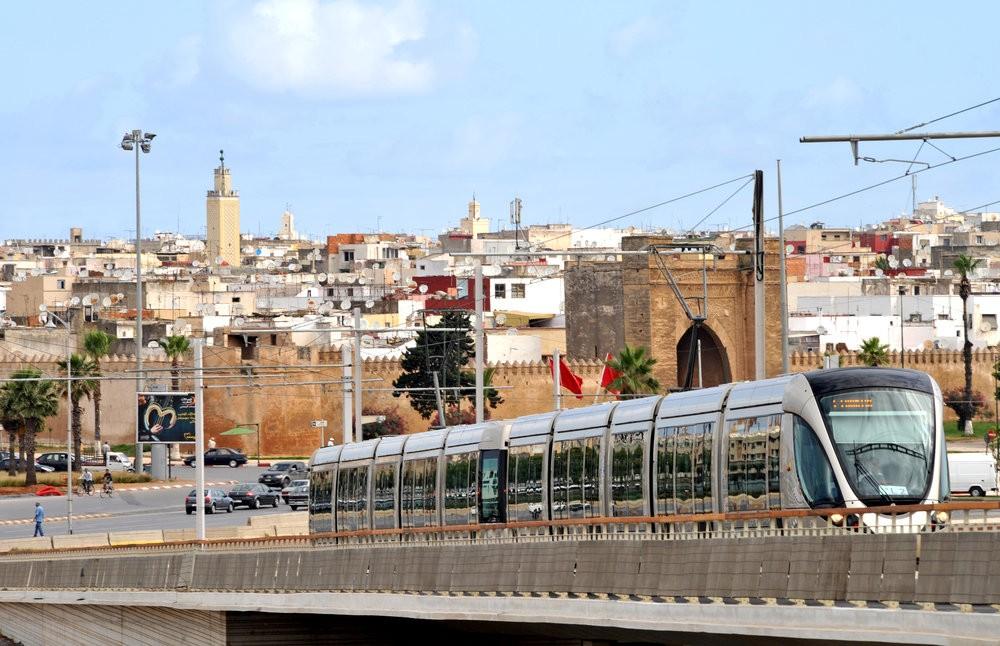 Tramvaje Alstom Citadis v marockém Rabatu. (foto: Alstom)