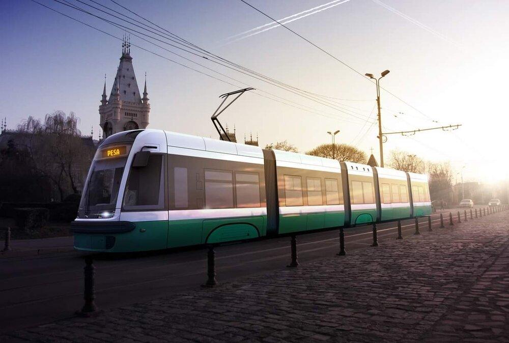 Tramvaj Swing pro Iași na propagačním obrázku výrobce. Vozy mají být dodány nejpozdějí do 24 měsíců od podepsání kontraktu. Ministerstvo vysoutěženou cenu tutlá. (foto: Pesa)