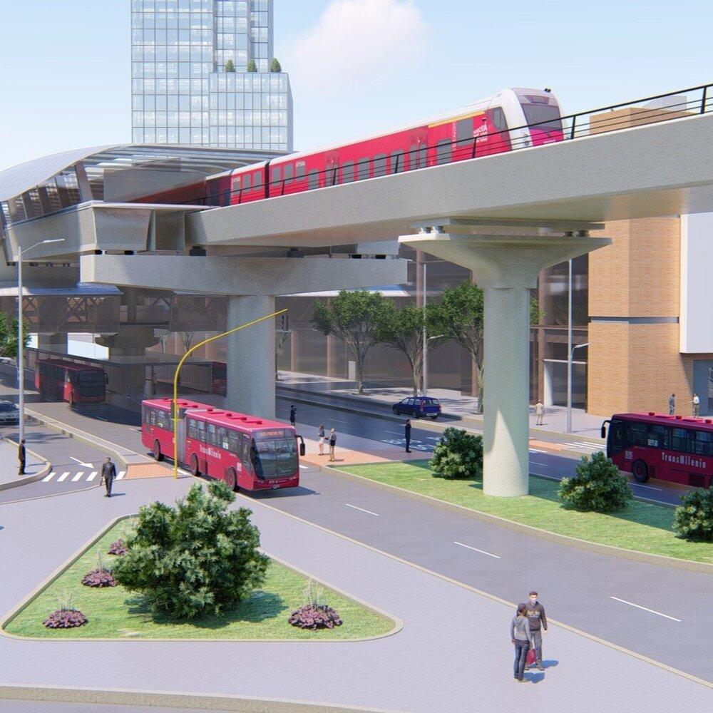 Vizualizace. (zdroj: Metro de Bogotá)