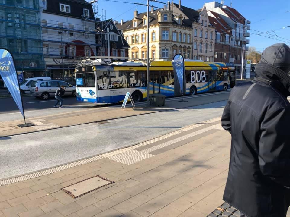 """Čtvrtek 31. října 2019 a parciální """"jezevčík"""" v akci. (foto: Stadtwerke Solingen GmbH)"""