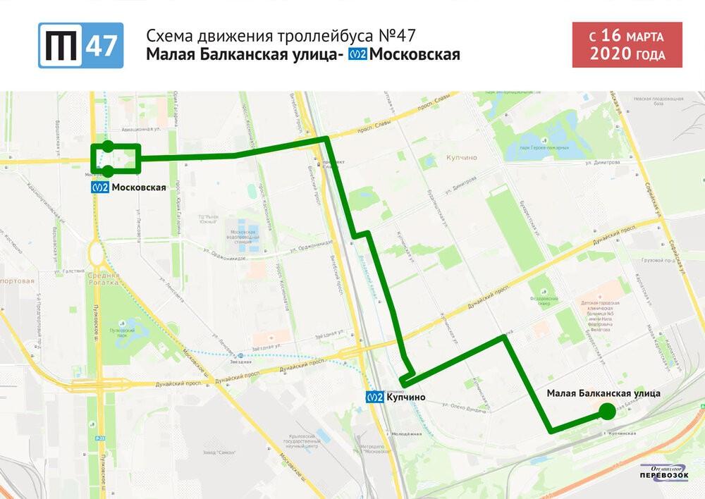 Trasa linky 47. (autor: Администрация Санкт-Петербурга)