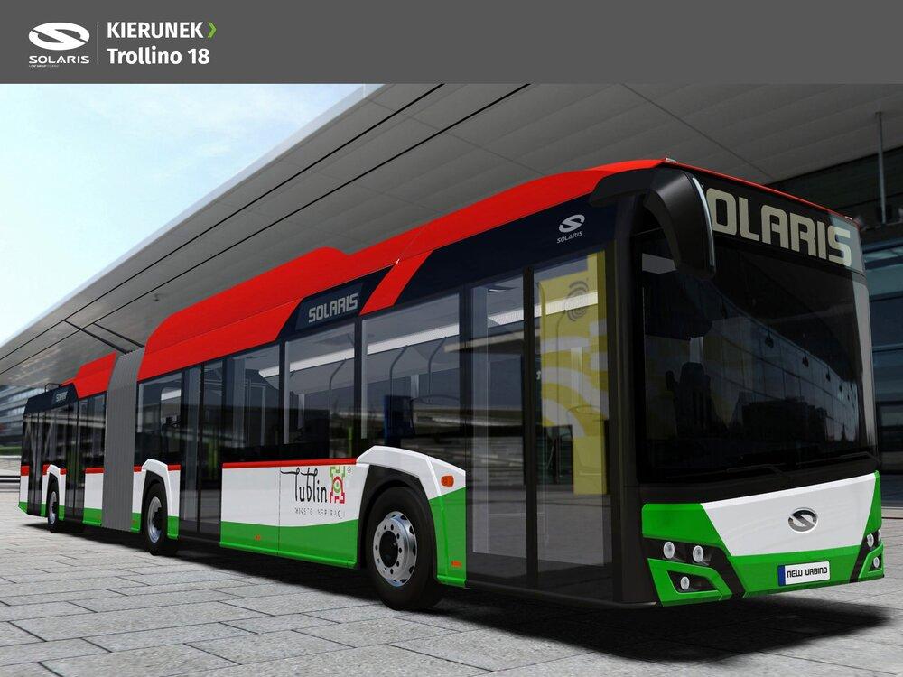 Trollino 18 pro Lublin na vizualizaci. (zdroj: ZTM Lublin)