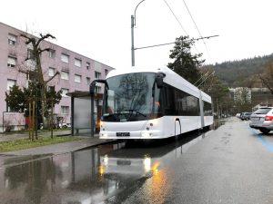 První trolejbus pro Veronu na zkouškách