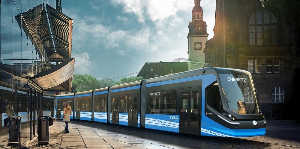 Vizualizace tramvaje Škoda ForCity Classic pro Chemnitz. (foto: Škoda Transportation)