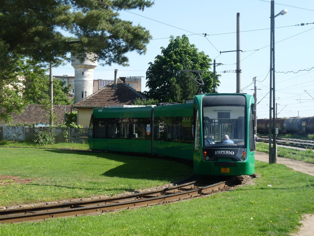 Tramvaje Imperio v Aradu. (zdroj: Wikipedia.ro)