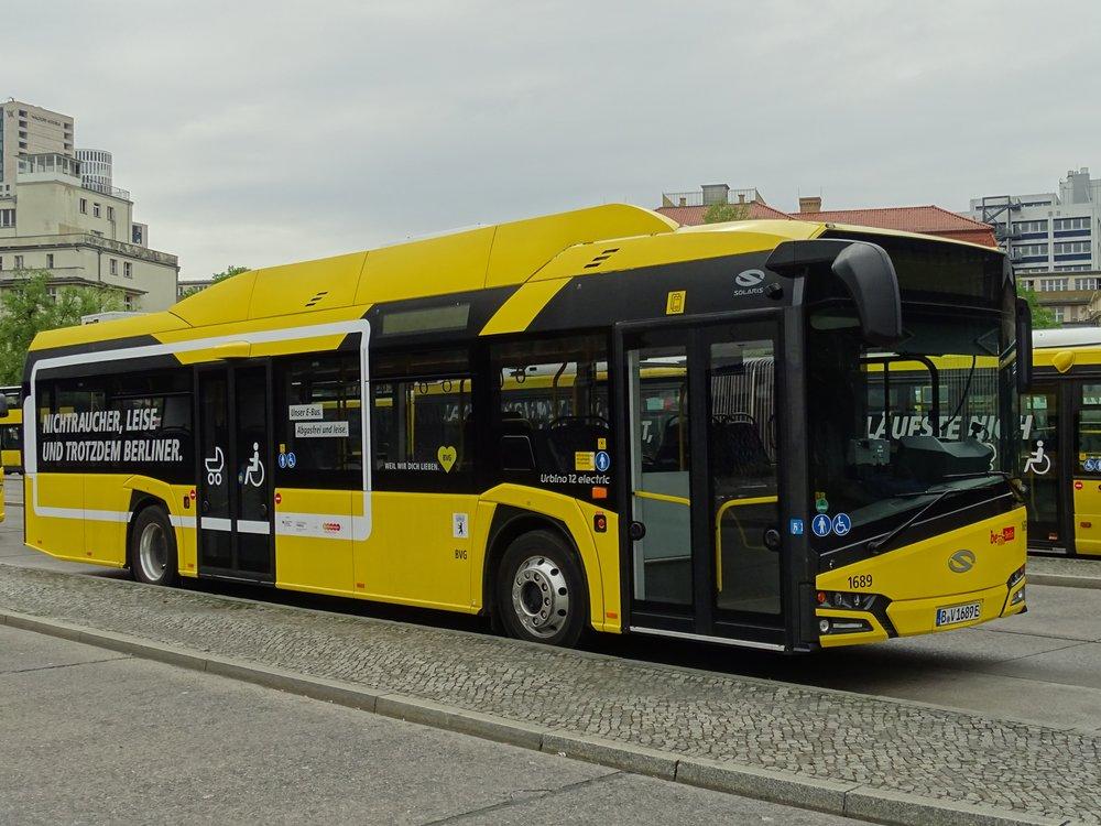 Solaris Urbino 12 electric v Berlíně. (zdroj: Wikipedia.de)