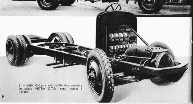 Podvozek MV pro trolejbus O.T.M. 1. (foto: katalog Vetry zroku 1933 / archiv ČsD)