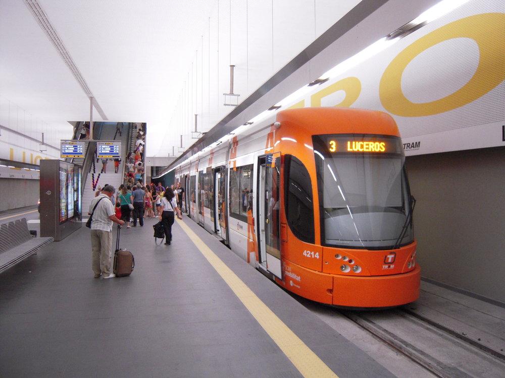 Konečná zastávka Luceros stramvajířady 4200