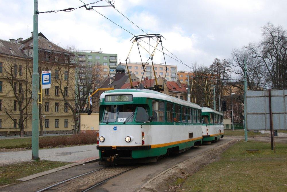 Tramvaje typu T2 přežily v Liberci o dvacet let déle než ve zbytku Československa. (foto: Libor Hinčica)