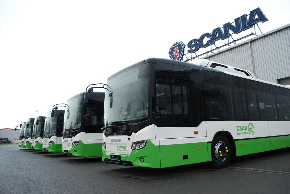 Nové autobusy Scania pro skupinu 3ČSAD. (foto: Libor Hinčica)