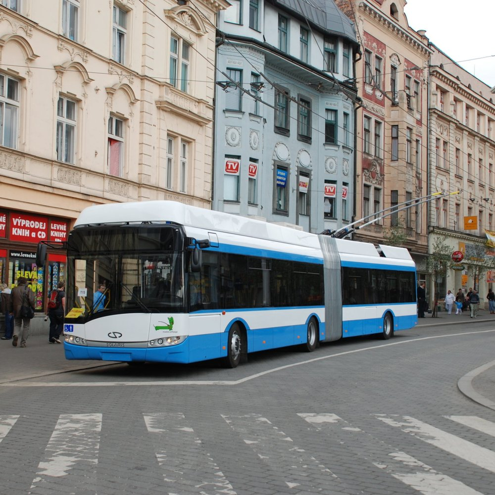 Trolejbus Solaris Trollino 18 AC pro Tallinn během zkoušek v Ostravě. (foto: Libor Hinčica)