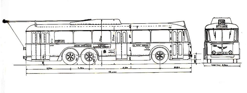 Nákres vozu typu VA3 pro Marseille. (zdroj: sbírka Rolanda le Corffa)