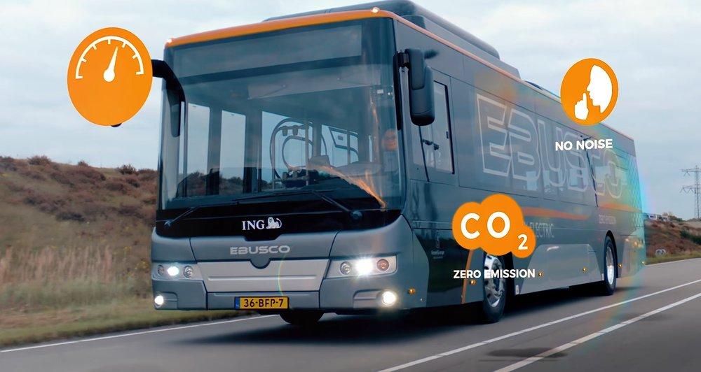 Elektrobus EBUSCO na snímku z propagačního videa výrobce. (zdroj: EBUSCO)