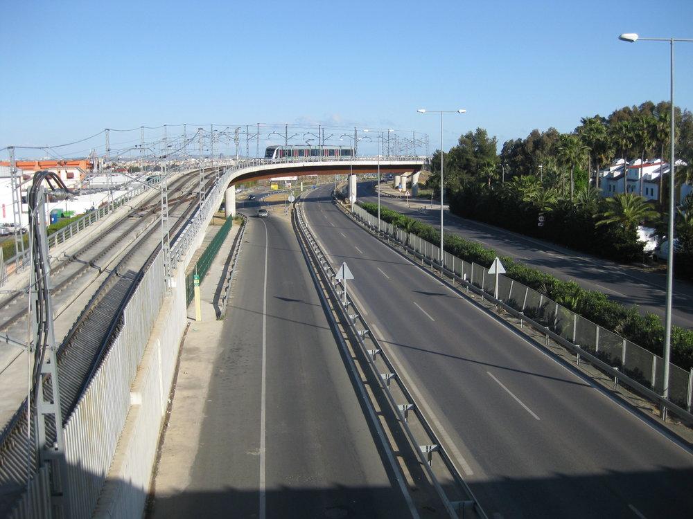 Jedna ze čtyř tramvají Urbos 2 roku 2014, již ne tramvajové trati, ale natrati místního metra. (foto: Miguel Cano López-Luzzatti)