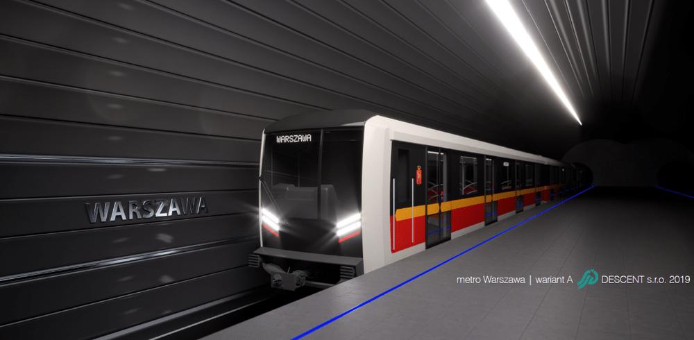 Jeden z návrhů designu metra pro Varšavu. (zdroj: Škoda Transportation)