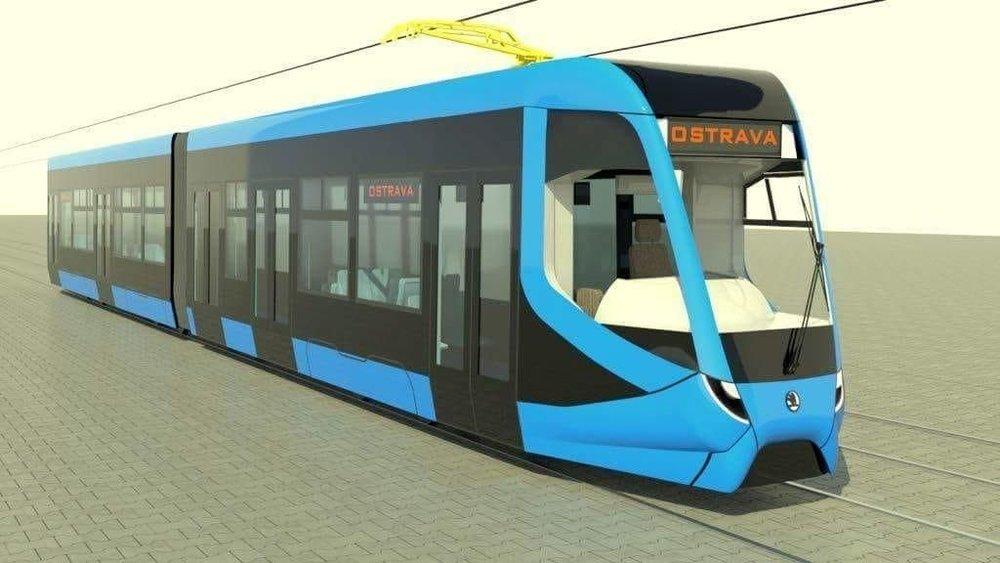 Tramvaj Škoda ForCity Smart pro Ostravu na první vizualizaci. Finální designové řešení ale bude vypadat odlišně. (foto: Škoda Transportation)