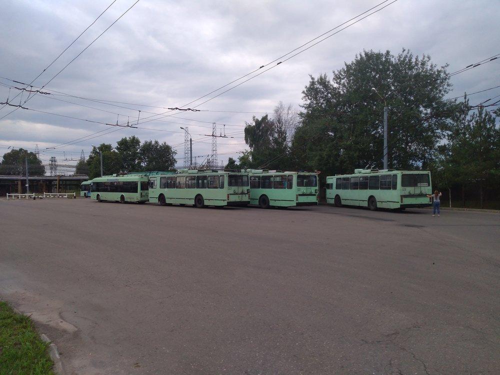 Hotová kolekce trolejbusů.