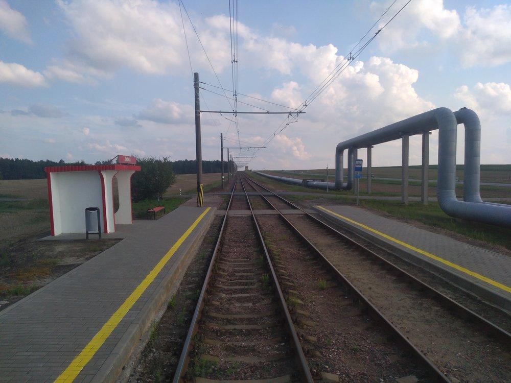 Mazyrská trať a roury.
