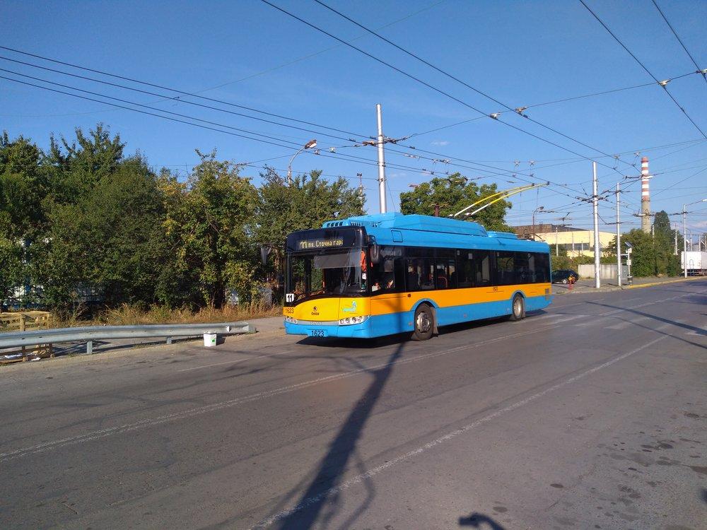 U vozovny Iskar (jihovýchod města).