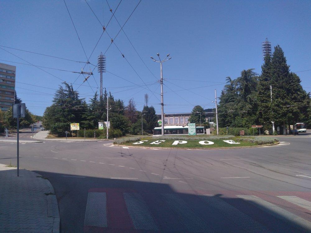 """Konečná Stadion """"Beroe"""" (6x)."""
