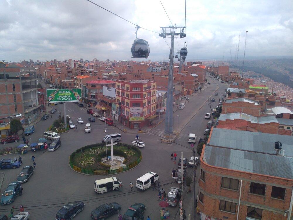 Pohled směrem kpřestupní stanici Tiquira.