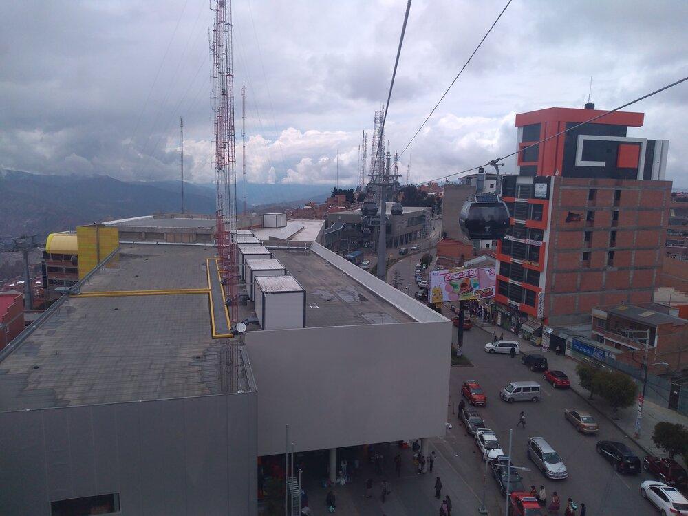 Pohled směrem ke stanici Qhana Pata.