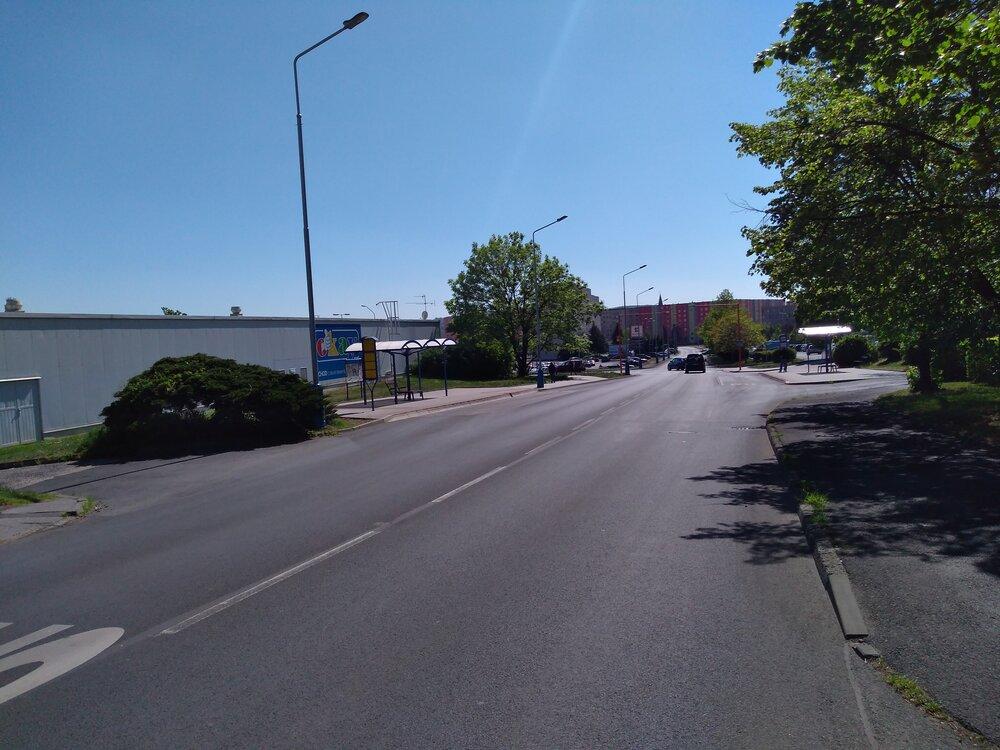 Ulice Bohosudovská, ve směru Přítkovská.