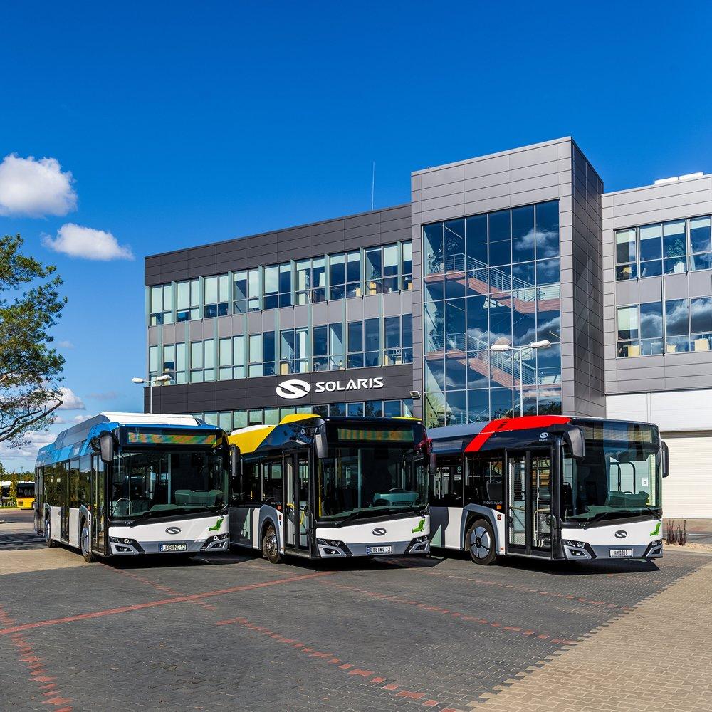 Autobusy Solaris Urbino ve výrobním závodě. (foto: Solaris Bus & Coach)
