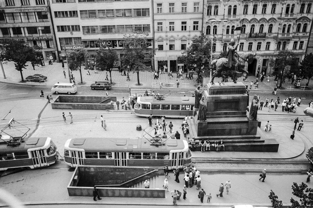 Tramvaje na Václavském náměstí jezdily v letech 1884-1980. (sbírka: archiv DPP)