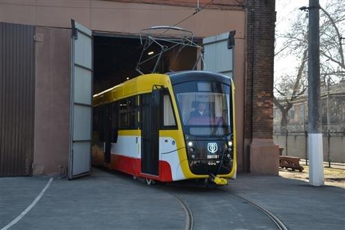 Jedna z tramvají Odissey. (foto: Oděsgorelektrotrans)