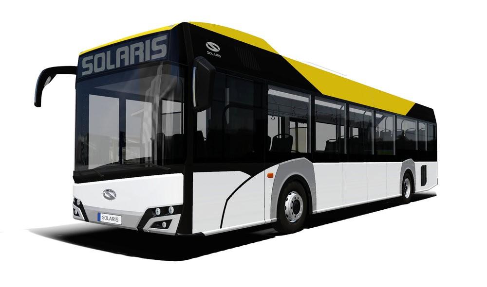 Solaris Urbino 12 LE lite hybrid na propagační vizualizaci výrobce. (zdroj: Solaris Bus & Coach)