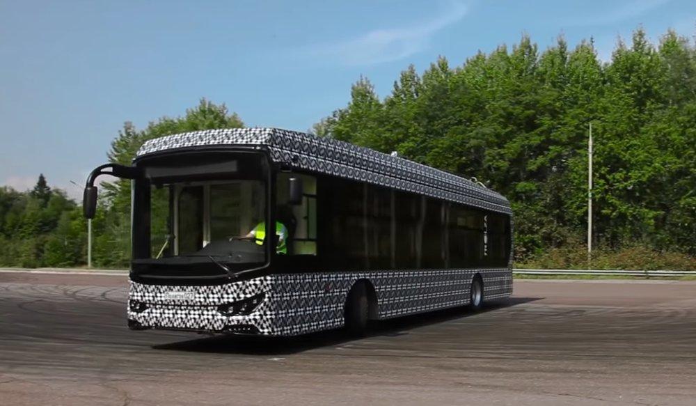 Nový trolejbus Megapolis od Trolzy. (zdroj: youtube.com)